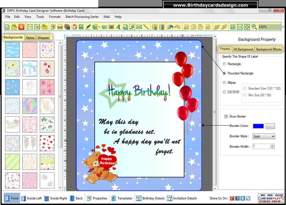 joomla template builder software - birthday cards design software creates prints birth day